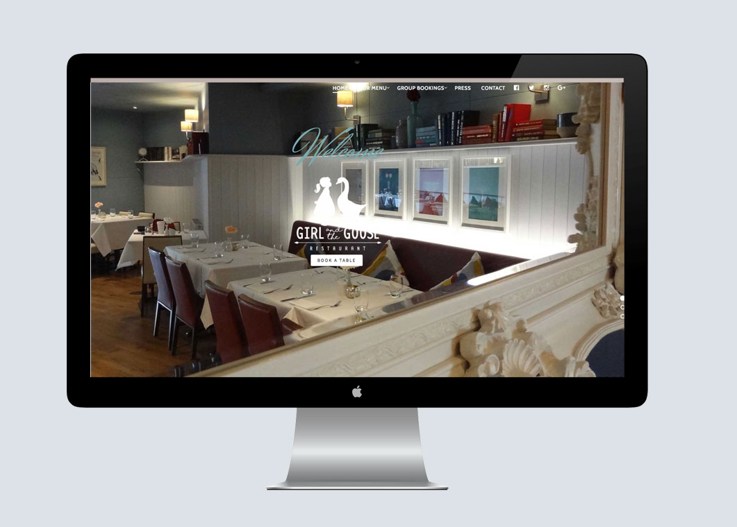 Girl and the goose restaurant website design by medusa