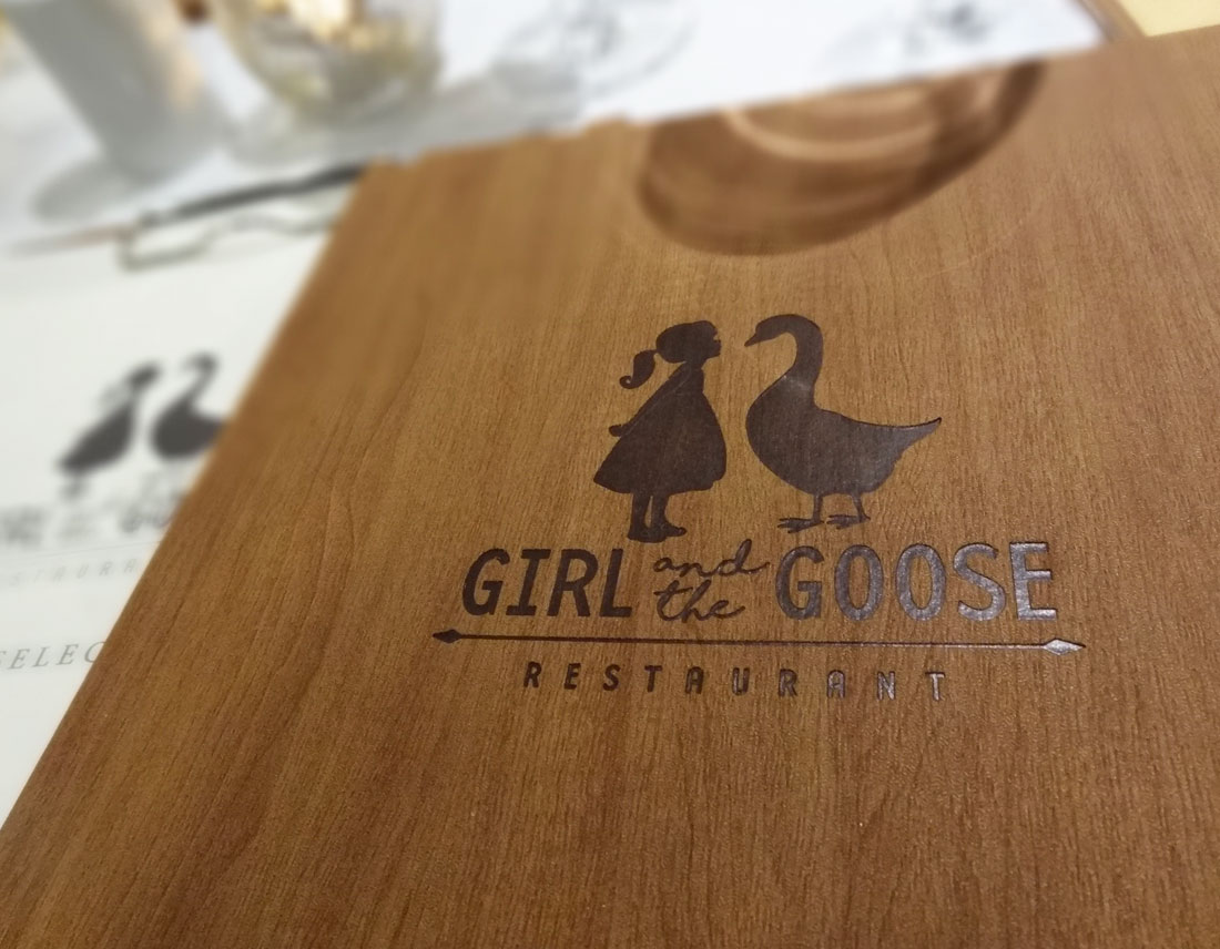 Medusa Logo design girl and the goose restaurant