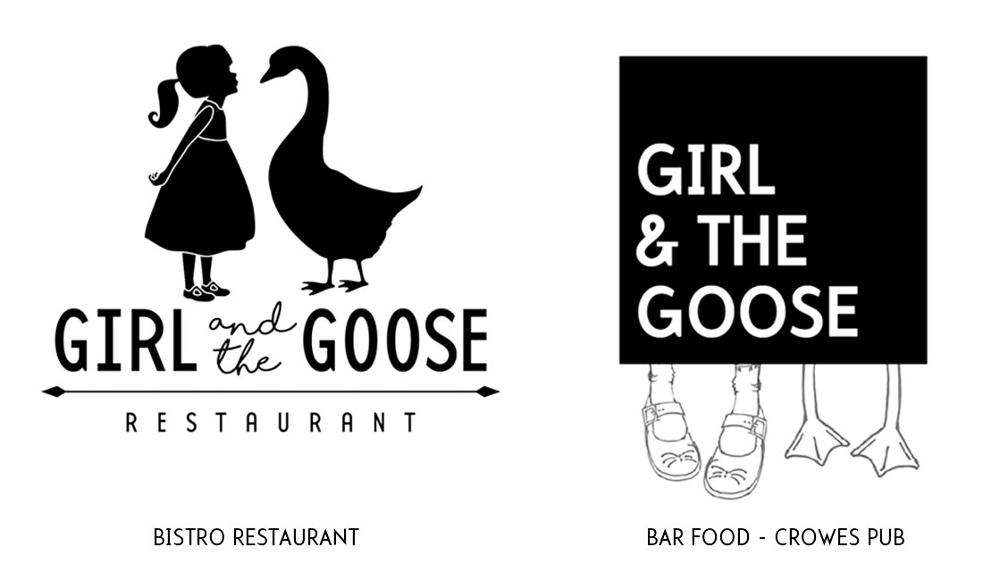Medusa - Girl and the Goose Logo options
